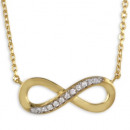 grossiste Chaines: Collier Infinity 3 microns 18 ct. Gold Edition