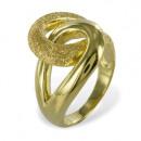 Ring Silber 925 vergoldet und teilmattiert