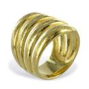 Ring Sparkle teilmattiert Silber 925 vergoldet