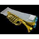 Gouden trompet met lint, 37cm, VE 12