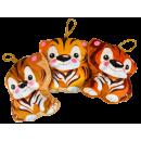 Stof tijger, 3 laags, 13 x 13cm, VE 24