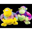 Regenboog - gorilla met hart, 3 vouw, 27 x 27cm,