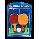 Großhandel Bälle & Schläger: Tischtennis Spiel mit Netz auf Karte , 30cmx 21 cm