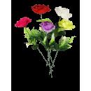 rose ouverte à pois, 45 cm, 5 plis