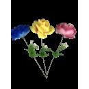 Rose ouverte avec du blanc, 3 plis, 45cm