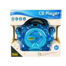 Children's CD player blue, with 2 microphones,
