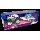 Jeep avec remorque et quad, 27 x 10 x 8,5 cm
