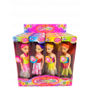 wholesale Dolls &Plush: Doll with dress in Display , assorted , 17 x 5 x 3