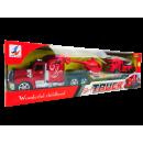 Camion de pompiers avec remorque, 44 x 13 x 8cm