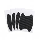 Scratch protection foil under car handle black