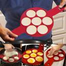 Silicone egg and pancake shape