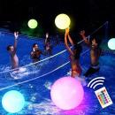 Großhandel Pool & Strand: Beleuchteter Strandball (mit Fernbedienung)