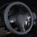 Silicone steering wheel cover gray