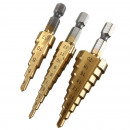 wholesale Manual Tools:3-step stair drill set