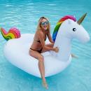 Großhandel Wassersport & Strand: Riesige Einhorn schwimmende Gummi-Matratze