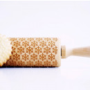Christmas patterned rolling pin with snowflake