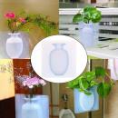 wholesale Flowerpots & Vases: Self-adhesive wall silicone vase