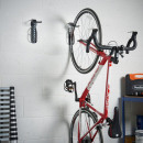 Wall mounted bicycle storage