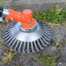 wholesale Garden Equipment: Pavement cleaning, weed removal brush for mowers