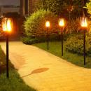 wholesale Garden Decoration & Illumination: Solar panel fire LED torch
