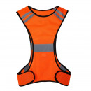 wholesale Working clothes: Visibility vest with led lamp orange