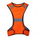 Großhandel Arbeitskleidung: Warnweste mit LED-Lampe orange