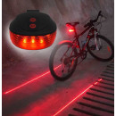 Laser bicycle rear lamp