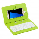 Universal Phone Case with Keyboard Green