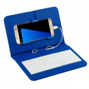 Universal Case with Keyboard Blue