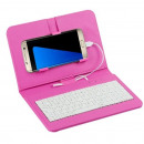 Universal Phone Case with Keyboard Pink