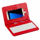 Universal case with keypad Red