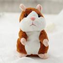 groothandel Speelgoed: Talking Plush Hamster Lichtbruin