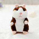 Talking Plush Hamster Dark Brown