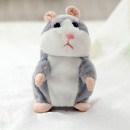 Talking Plush Hamster Gray
