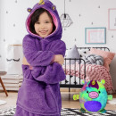 wholesale Childrens & Baby Clothing: Plush Hoodie For Kids Purple