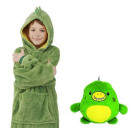 wholesale Childrens & Baby Clothing: Plush Hoodie For Kids Green