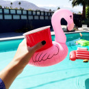 Opblaasbare flamingo-drinkhouder
