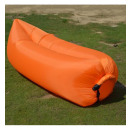 Großhandel Gartenmöbel: Luftgefülltes Relax-Bett Orange