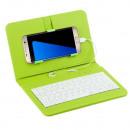 Universal Phone Case mit Tastatur Grün