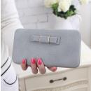 Großhandel Handtaschen: Damen Clutch Bag Hellgrau