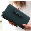 wholesale Handbags: Female clutch bag with dark green