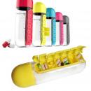 Wasserflasche mit Medikamentenspender