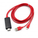 wholesale Consumer Electronics: HDMI Cable for Iphone Screen Mirroring Red