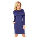 Großhandel Fashion & Accessoires: Kleid mit Golf -  dicken Material - Navy