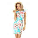 wholesale Fashion & Apparel: Dress with a bow - PEACH FLOWERS