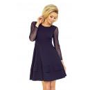 ingrosso Ingrosso Abbigliamento & Accessori: vestito 141-1  maniche in tulle - BLU