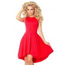 Großhandel Kleider: Exklusives Kleid  mit einem langen Rücken - rot