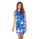 Großhandel Kleider: Kleid mit  asymmetrischem Saum - große Blüten