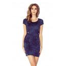 Großhandel Jeanswear: MM 010-2 Kleid mit  Klappe und zwei Knöpfen - JEANS