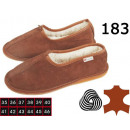 Shoes, slippers for women, leather, wool, model183